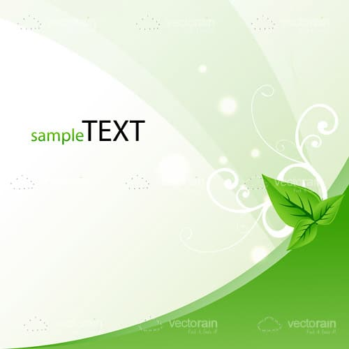 Vector template with leaf symbolising safe ecology