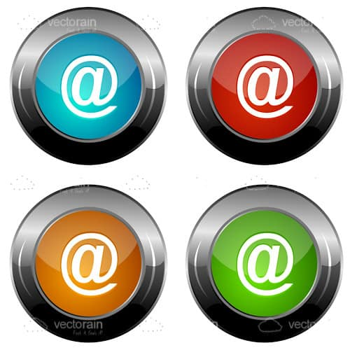 Colorful vector email icons