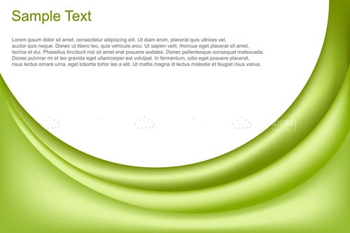 Abstract vector background with waves and text template