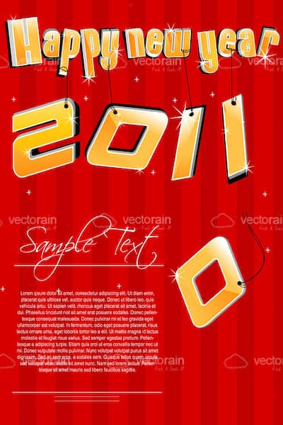 Happy new year with 2011