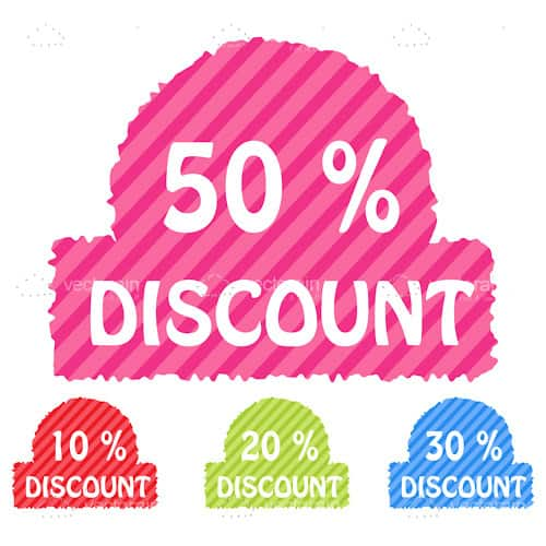 Set of discount icons