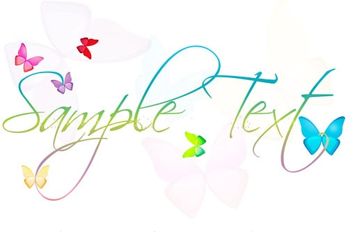 Sample text with butterfly