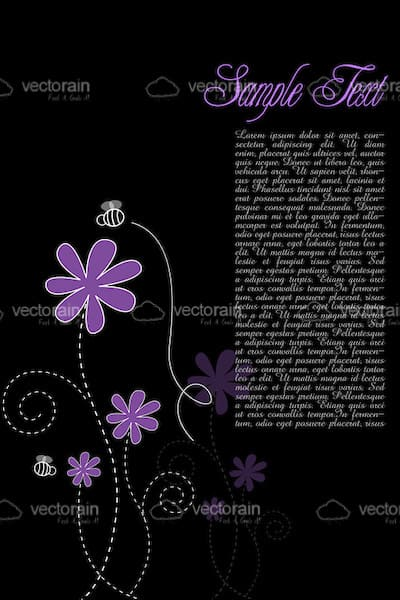 Floral text template