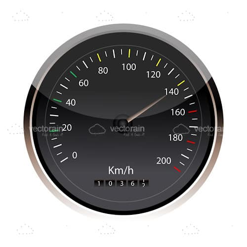 Isolated speedometer