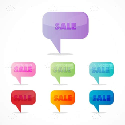 Colorful sale icon