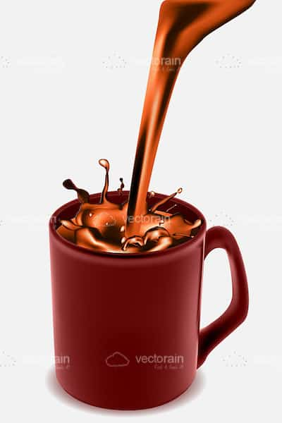 Coffee mug with chocolate coffee