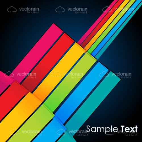 Colorful lines on vector background
