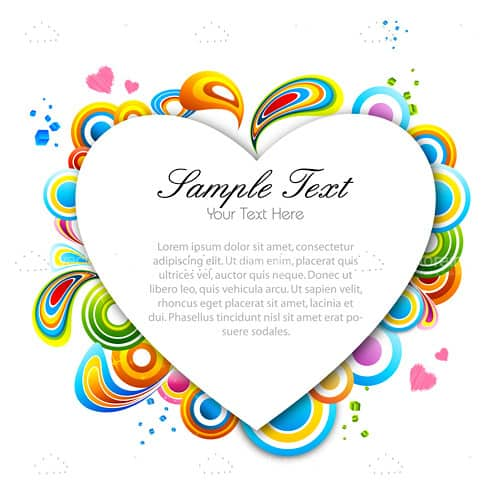 Creative valentine card with sample text