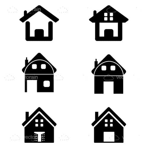 Silhouettes of homes