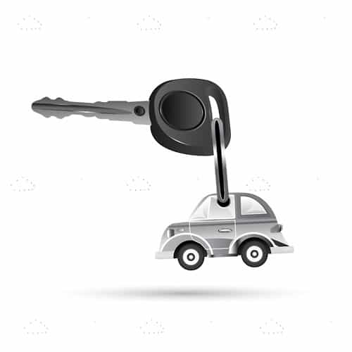 Key chain with car