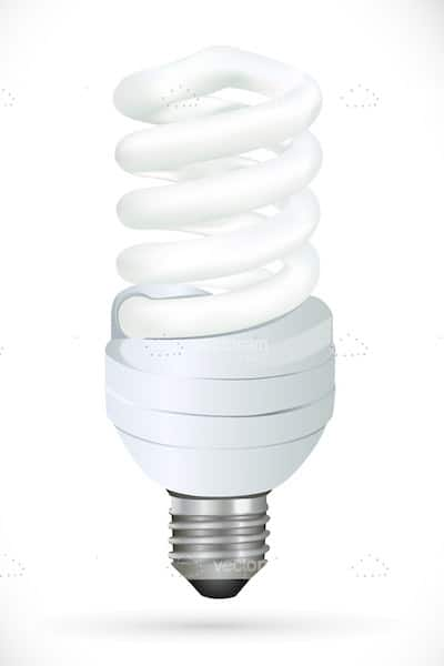 Cfl on white background